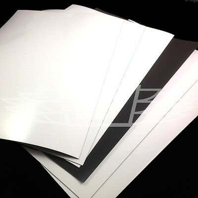 A4 Gloss Flexible Magnetic Sheets Spellbinder Dies Cutting Craft Arts White