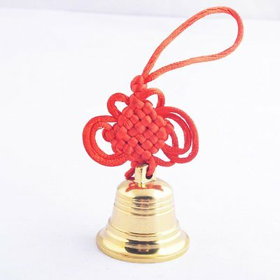 Feng Shui Brass Good Luck,protection Bell SKU:Y1355