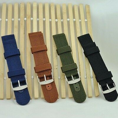 1 Piece Classic Military Wristwatch Band Canvas Nylon Watchband Watch Strap Band