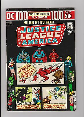 1974 DC Justice League of  America Comic Book #110 Green Arrow/Black Canary