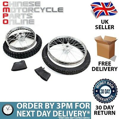 Motorcycle Off Road Chrome Wheel Set for Lexmoto Adrenaline 125