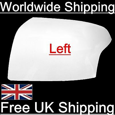 Frozen White Wing Mirror Cover Left Ford Indicator Type 1320021