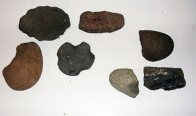 Lot of 7 Cataloged Pre Columbian Artifacts / Tools Columbia River Basin