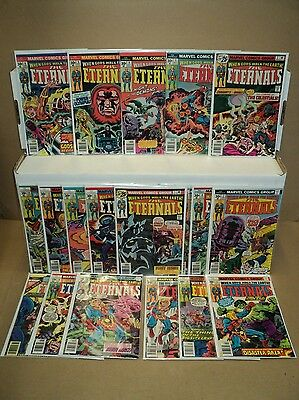 Eternals 1-19 + Annual 1 COMPLETE SET Sharp 1st app! 1976-78 Jack Kirby (s 5824)