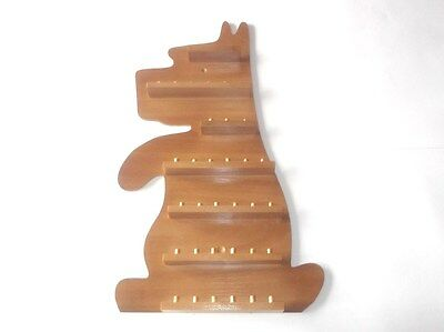 36pc Dog ( Up ) Wooden Thimble Display Rack ( Pine )( huge range - see list )