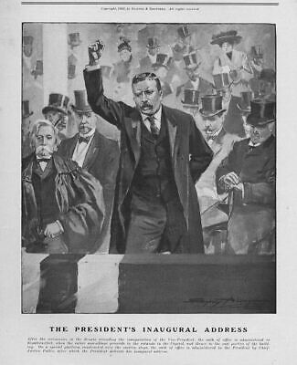 President Theodore Roosevelt 1905 Inaugural Address At The United States Capital