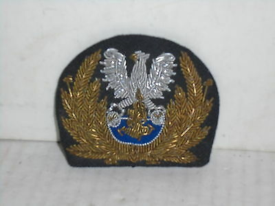 Post WWII Poland Army Navy Coast Guard Dress Cap Hat Badge Insignia Warsaw Pact