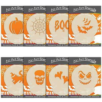 Halloween Stencils for Cake and Craft -  Pumpkin Bat Spider Cat & Grave Designs