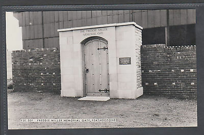 Freddie Miller .memorial Gate, Featherstone .old  Real Photo Postcard.