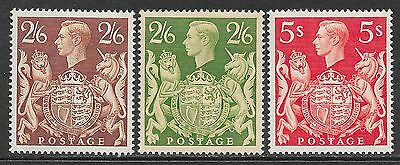Great Britain stamps 1939 SG 476+476a+477  MLH  VF