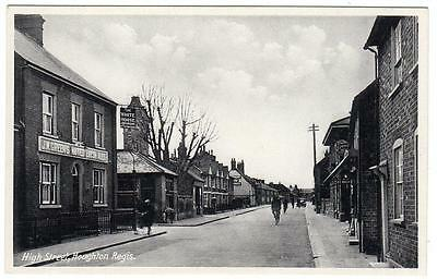 Early HOUGHTON REGIS  White Horse High Street  Dunstable Bedford Postcard
