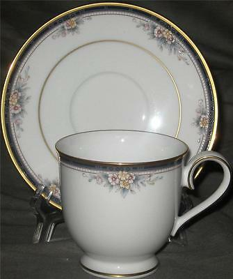 Noritake Ontario Pattern #3763 Fine China Footed CUP & SAUCER Gold Trim