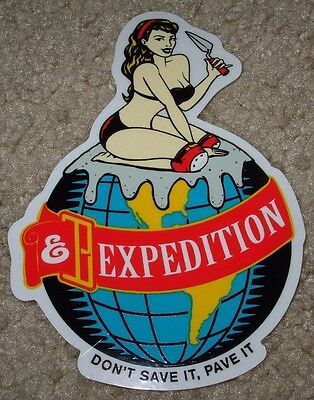 EXPEDITION ONE Skate Sticker DON'T SAVE IT 3.5 X 5 skateboards helmets decal