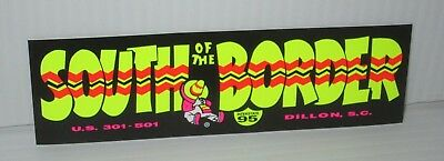 "SOUTH OF THE BORDER US ATTRACTION S CAROLINA 6""x2"" MINI BUMPER STICKER GLOSSY"
