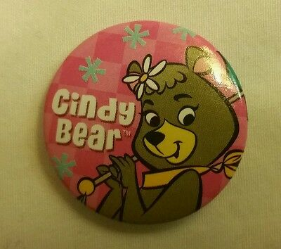 "Hanna Barbera Yogi Bear Girlfriend Cindy Jellystone Park  Pinback Button 1"" Pin"