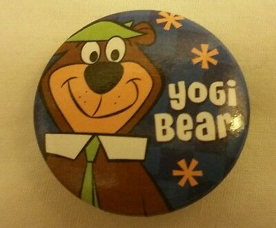 "Hanna Barbera Yogi Bear Cartoon Character Jellystone Park  Pinback Button 1"" Pin"