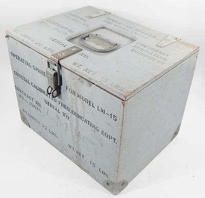 US Navy Wooden Box for LM 15 Crystal Calibrated Frequency Generator Spare Parts