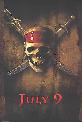 Pirates of the Caribbean Version B Original Movie Poster Dbl Sided 27x40 inches