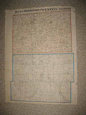 Antique 1875 Royalton Fulton Township Fulton County Ohio Handcolored Map Rare Nr