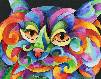KALIDEO CAT 8x10  CAT Art Print by Sherry Shipley
