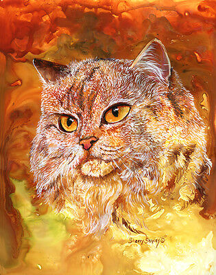 TOPAZ 8x10 PERSIAN CAT Art Print by Sherry Shipley