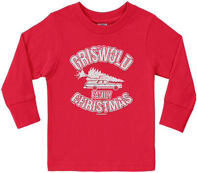 Threadrock Kids Griswold Family Christmas Toddler Long Sleeve T-shirt Vacation