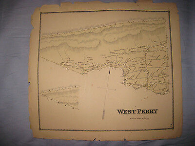Antique 1868 West Perry Township Snyder County Pennsylvania Map Detailed Fine Nr