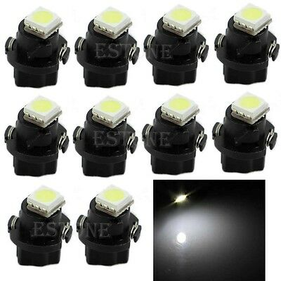 New 10x White T5 Neo Wedge 1 SMD 5050 LED Car Bulbs HVAC Climate Control Lights