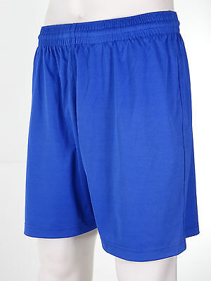 Mens long style pro-fit premium quality football shorts Royal blue Size Large