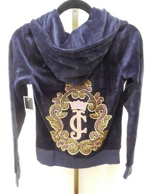d04db83cff9c NWT Regal Juicy Couture Crown Cameo Velour Jacket Size Medium JG008650