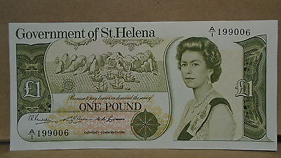Government of st. helena one pound currency note