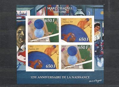 (922861) Art, Chagall, Cote d'Ivoire - private issue -