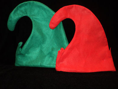 GREEN FELT ELF HAT ~ Great for Holiday Parties