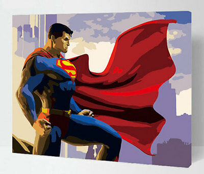 Acrylic Painting by Numbers kit 50x40cm (20x16'') Superman DIY ML7095
