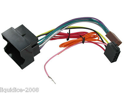 CT20VX01  VAUXHALL ZAFIRA 2005 to 201 CONNECTOR ISO HARNESS ADAPTOR LEAD STEREO