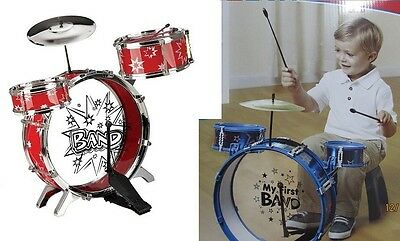 Boys Girls Children My First Band Drum Kit Complete Set Ideal Gift For Your Kids