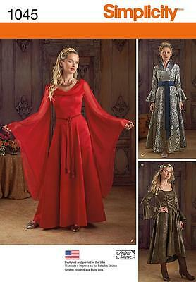 Simplicity Sewing Pattern Misses' Fantasy Costumes Size 6 - 22 1045