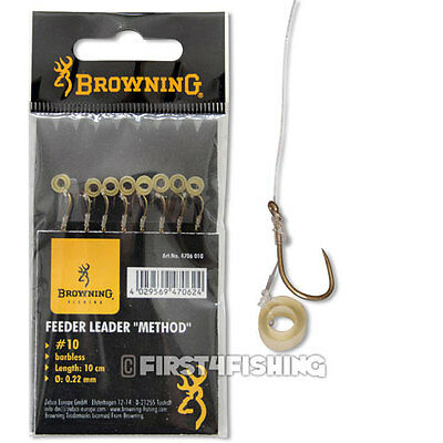 Browning Feeder Leader Hooks to Nylon with Pellet Band - Match Coarse Fishing