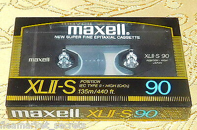 ONE New Sealed Maxell XLII-S 90 EPITAXIAL Type II Cassette Tape Made in Japan
