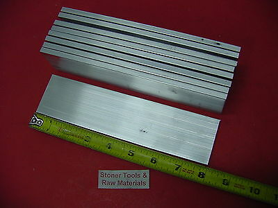 "9 Pieces 1/8"" X 1-1/2"" ALUMINUM 6061 FLAT BAR 8"" long .125"" Plate Mill Stock"