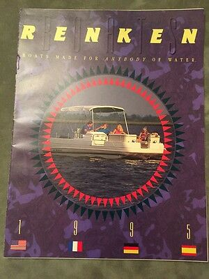 Renken Boat~Seamaster Boats~1995 Original Sales Brochure~Mint Condition~Marine
