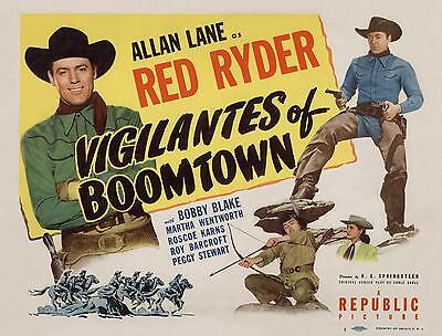 ALLAN LANE As THE RED RYDER In VIGILANTES OF BOOMTOWN 11x14 TC Print 1947