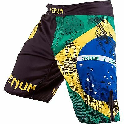 "Venum Fightshort ""Brazilian Flag"" 0081 - Fight-Short - MMA Pant - Freefight Hose"