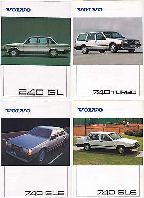 Four 1988-89 VOLVO 740 & 240 2 Page Sheets for International Market - NZ