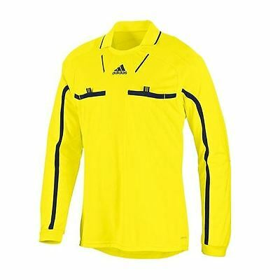 Adidas Essentials Long Sleeve Referee Jersey Mens Linesman Shirt Yellow