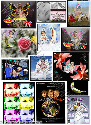 CUSTOM Made FANTASY Portraits~Mermaids~Fairtyale~Dinosaurs~Space~Zombies +MORE