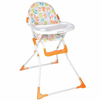 Safetots Bright Feet Compact Foldable Highchair - Baby Feeding High Chair