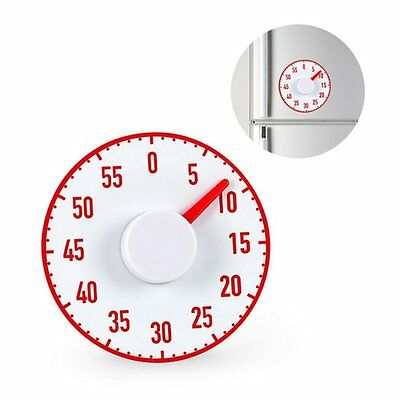 Balvi VERY BIG Kitchen TIMER - Extra Large MAGNETIC Cooking TIMER 60min - RED