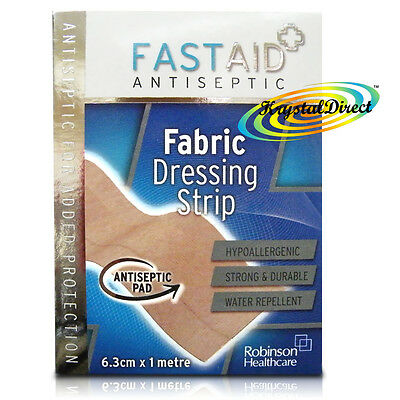Fast Aid Antiseptic Fabric Dressing Strip 6.3cm x 1 m