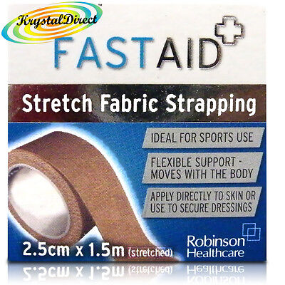 Fast Aid Stretch Fabric Strapping 2.5cm x 1.5 m  Streched